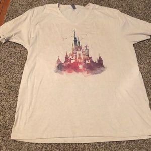 Watercolor Cinderella's Castle T-shirt Disney